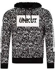 Sweat à capuche Unkut Splash Noir