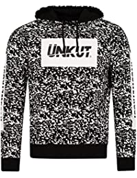Sweat à capuche Unkut Splash Noir