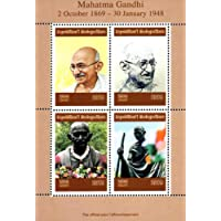 STAMPEX - Madagascar 2019 Mahatma Gandhi Famous People 4v Mint Miniature Sheet Thematic Stamps Collection.