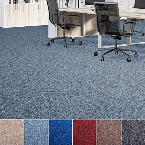 Floori® Nadelfilz Teppich, GUT-Siegel, Emissions- & geruchsfrei, wasserabweisend | Viele Farben & Größen (400x200 cm, grau) (Filzteppich)
