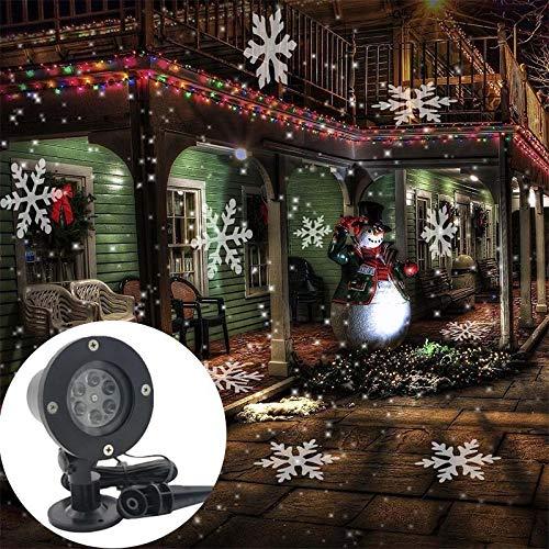 LED Lichteffekt Dekoration, Projektionslampe Weihnachtsprojektor Lichter Projektions Lampe Kinder Wandbeleuchtung innen/außen IP65 LED Projektor, Geburtstag Party Licht Teichbeleuchtung