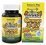 Nature's Plus, Source of Life, Animal Parade, Omega 3/6/9 Junior, Natural Lemon Flavour, 90 Softgels