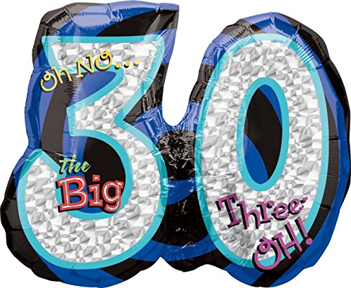 Oh No It's My 30th Birthday Foil Super Shape Balloon