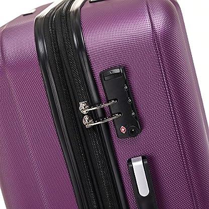 Beibye TSA–Candado 2080Hang epäck ruedas Gemelas nuevo Maleta rígida Juego de L XL de m (Board Case) en 12colores, morado