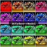 Bestdon Lichterketten Twinkle Fairy 80 LED 8m Wasserdicht 16 Farben 4 Modelle Fade Strobe Batteriebetrieben mit Fernbedienung für Indoor Outdoor Weihnachten Hochzeit Festival Party Wanddekoration