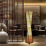 Stehlampe, Wohnzimmer im chinesischen Stil, Schlafzimmer, Bambus, südostasiatische Retro-Lampe Größe: 23 * 23 * 128cm