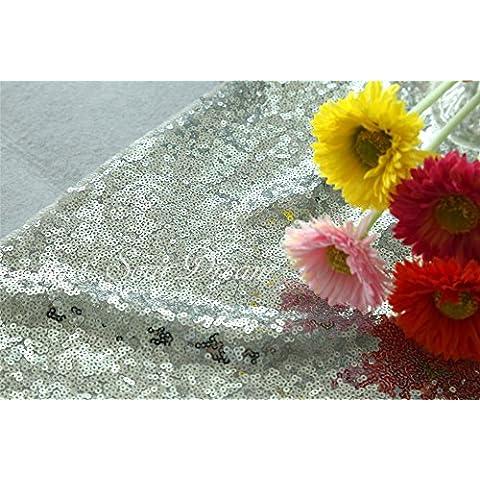3,7m Argento Cucina tessuto decorativo per festa di compleanno con paillettes sfondo tessuto halloween/Natale tavolo