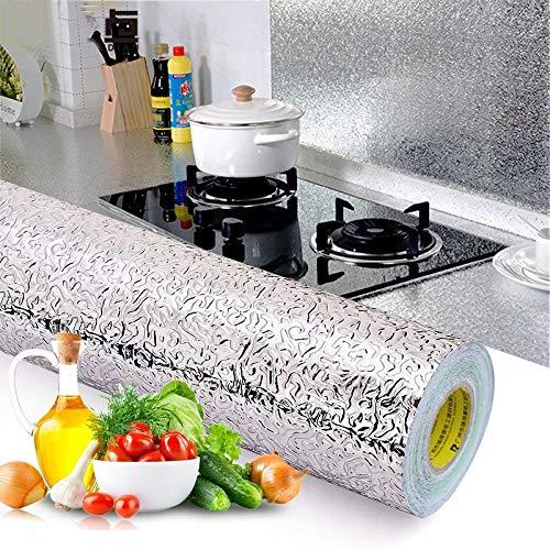 Papier Peint 3D Pas Cher Cuisine Mur Cuisinière Feuille D'Aluminium Autocollants Anti-Encrassement Anti-Fouling Autocollant Croppable Autocollant À Haute Températu