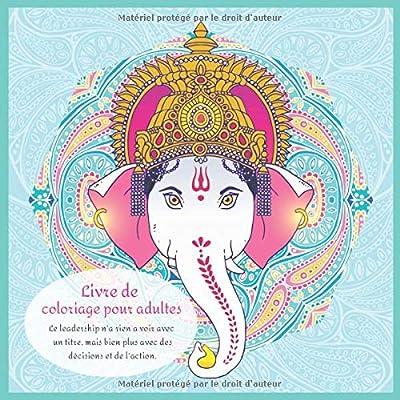 Livre de coloriage pour adultes - Le leadership n'a rien a voir avec un titre, mais bien plus avec des décisions et de l'action.