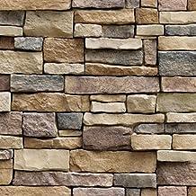 walshk pared de ladrillo del papel de pared 3d piedra autoadhesiva de la etiqueta engomada de - Pared Piedra