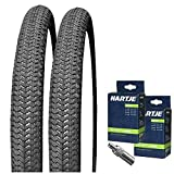 KENDA Set: 2 x Kiniption BMX Fahrrad Reifen 54-406 / 20x2.10 + 2 SCHLÄUCHE Dunlopventil