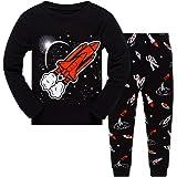 Kinder Pyjama Set Truck Langarm Baumwolle Cartoon Herbst T Shirt Gestreifte Hose