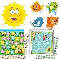 Orinal Entrenamiento–Recompensa para niños con sistemas Recompensa Tema niña + 4higiénico pegatinas lieblingstiere + 2verfärbende sol adhesivos para el orinal ☀