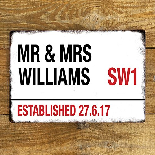 personalised-wedding-metal-road-mr-and-mrs-sign-vintage-style-large-200x300mm