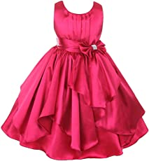 Fairy Dolls Girl's Satin Frock