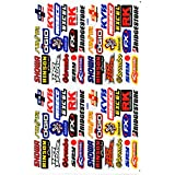 Sponsor STICKER Tuning Racing Motocross Autocollant feuille 27 x 18 cm
