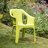 "Resol ""Cool"" Garden Outdoor / Indoor Designer Plastic Chairs - Green - Garden Furniture (Pack of 4 chairs)"
