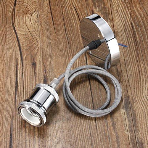 KINGSO E27 Edison Rame Portalampada Luce Del Lampada Lampadario Holder Ombra Lampada a Sospensione Lampada Titolare Accessori Fai da te Con 1M Cable