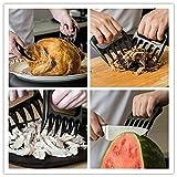 Rorcelle torrefazione, 2pcs / set barbecue barbecue utensili orso zampa forche gestore di carne (2 Pcs)