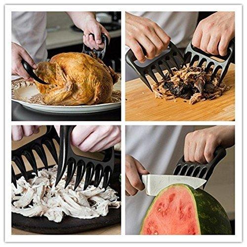 61qolH70MfL - Meat Bärenkrallen ,Pulled Pork Shredder Bärentatze Fleisch Claws Grillfleischgabeln Geräucherte BBQ Grillen von Fleisch Zubehör (11.5*11.5*2.5cm)