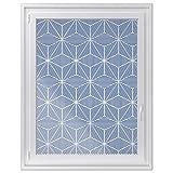 Fenster-Sticker | selbstklebende Fensterfolie - dekorativer Sichtschutz | hochwertige Glasdekorfolie - Klebefolie für Fenster in Küche, Bad und Wohnzimmer | Fensterfolie 90 x 120 cm - Sternstunde