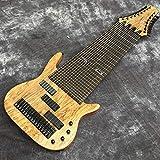 Florwesr 17 sur Commande Guitare Basse Électrique Cordes Palissandre Fretless Inlay sur Mesure (Size : 43 inches)