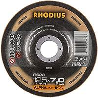 Rhodius RS28125x 7, 0x 22, 23mm 5unidades Acero Inoxidable Acero Discos De Desbaste RS28125x 7, 0x 22, 23mm para amoladora de ángulo de lija, 200W, 240V