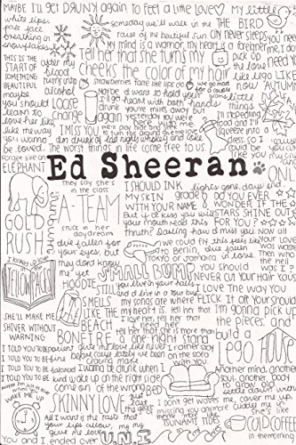 Love st. Ed Sheeran Paper Poster for Home and Offices (Multicolour, 12 x 8)