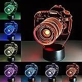 Najer 3D Death Star Bulbing Schlafzimmer Dekorative Nacht Multi 7 Farbwechsel USB Touch Button LED Schreibtisch Tischleuchte Lampe Lampe Lampe, acryl, Kamera 0.50watts