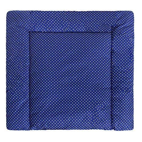 Preisvergleich Produktbild LULANDO Wickelauflage 75x75 cm Oberstoff 100% Baumwolle in tollen Designs. Passend u.a. für die Kommode IKEA Malm Farbe: Airplanes - Dots