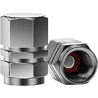 SAVITA 8 Pièces Aluminium Bouchon de Valve de Remplacement Hexagonales Universelles pour Voitures, VUS, vélos, Camions…