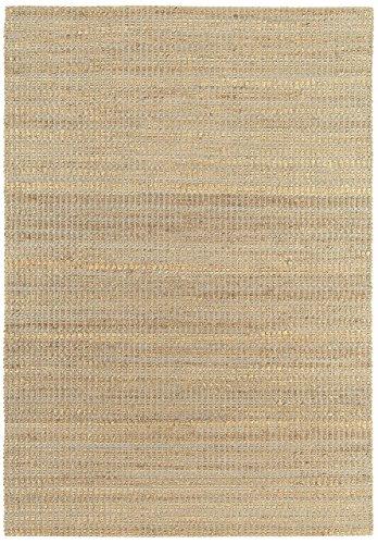 Alfombra salon sala de estar Carpet piso pelo corto Design RANGER UNI RUG 70% Jute 30% Algodón 120x170 cm Rectangular Gris | Alfombras barata online comprar
