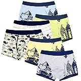 LeQeZe 6 Pack Kinder Jungen Boxershorts Unterwäsche Junge Boxer Unterhose Baumwolle Schlüpfer 2-11 Jahre Größe 86-146 (Boys 6 Pack/03, 2-3Jahre)
