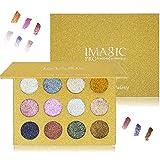 Paleta de sombra de ojos compacta de purpurina de Lover Bar, alta pigmentación, duradero,...