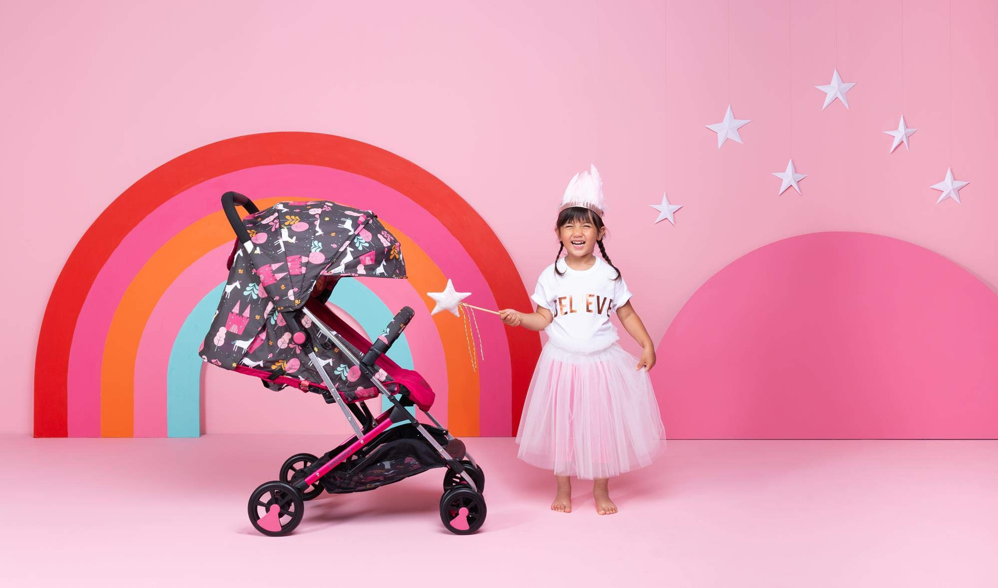 Cosatto CT4224 Woosh 2 Unicorn Land 7.2 kg Cosatto Suitable from birth to max weight of 25kg, lets your toddler use it for even longer Lightweight, sturdy aluminium frame New-born recline 4