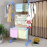 #10: DOLPHIN Ultra Durable Cloth Drying Stand (Blue) Stainless Steel Cloth Dryer Stand
