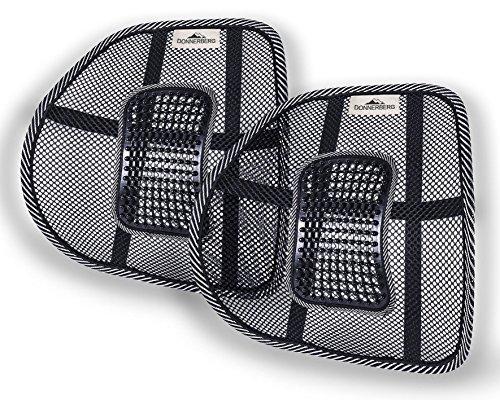 Donnerberg ORIGINAL Respaldo Lumbar Ergonómico Soporte Lumbar con correas regulables para sillas de oficina asientos de coche Cojín Lumbar Apoyo...