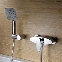 ZHGI Il rame montato a parete vasca miscelatore doccia, doccia, doccia calda e fredda acqua di rubinetto resistente alla corrosione shower taps