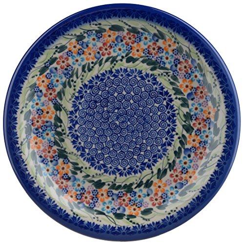 Classic Boleslawiec, Polish Pottery Hand Painted Ceramic Dinner Plate (Diameter: 26.0cm /10.2 Inch) 134-u-008