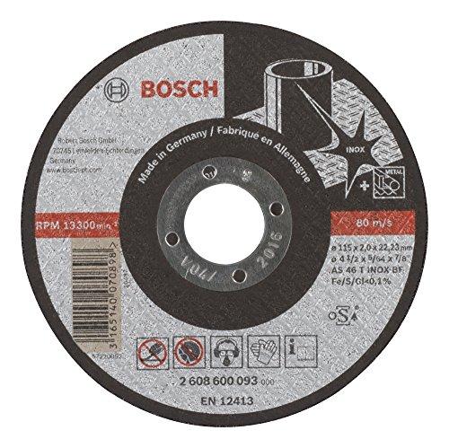 Bosch 2608600093 Disque à Tronçonner à moyeu plat expert for inox AS 46 T inox BF 115 mm 2,0 mm