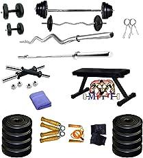 MFITT 20 KG Weight Lifting Flat Fitness Bench
