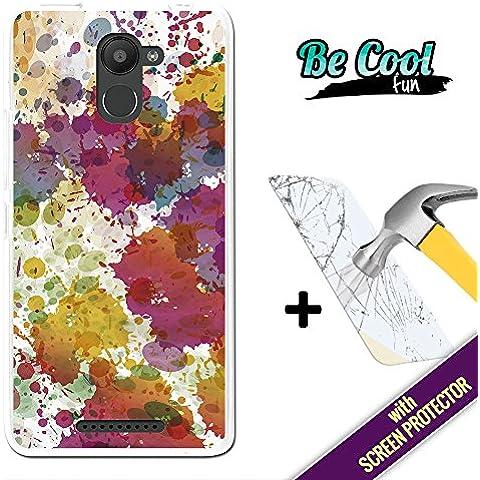 Becool® Fun - Funda Gel Flexible para Bq Aquaris U Plus, [ +1 Protector Cristal Vidrio Templado ] Carcasa TPU fabricada con la mejor Silicona, protege y se adapta a la perfección a tu Smartphone y con nuestro exclusivo diseño. Gotas de