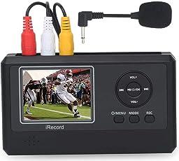 DIGITNOW! Video Grabber mit Mic, Video Digitalisieren für VHS, Videorekorder, Bänder, Hi8, Camcorder, DVD, TV Box, Spielsysteme, Kein PC erforderlich
