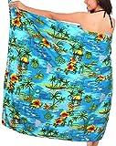 La Leela doux paradis likre floral tout en un plage loung usure maillot couvrir up top tunique dames Robe jupe fendue bikini enveloppement paréo taille plus robe bain sarong costume cms 182×108