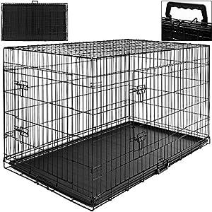 Cage boite transport pour chien et animaux - Fermable et pliable - Taille S - avec poignée