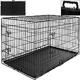 Hundetransportbox Hundebox Transportbox Transportkäfig Gitterbox 107 x 71 x 76,5cm Gr. XL