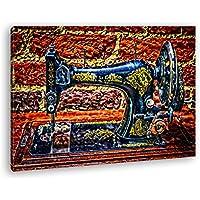 Máquina de Coser Histórica de Oriente Medio Efecto: zeichung como Lienzo, diseño Enmarcado en