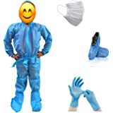 Go Klean ppekid912 PPE Kit for Kids & Minors (Age: 9-12) - Face Mask/Gloves/Head Cover/Shoe Cover/Bio Waste Bag Safety…