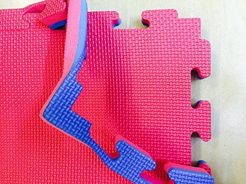 Gym Bodenbelag, Fußmatte (M.A.R International Ltd einfach montieren wendbar Interlocking Puzzle Boden Matts Taekwondo Thai Boxing Karate Kampfsport Sport Gym Bodenbelag Club blau/rot 20mm Stärke x 1m x 1m (quadratisch) blau/rot 20mm x 1m x 1m)