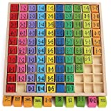 Math Toy - Children Wooden Toys Multiplication Table Math Toy 99 Figure 10 X 10 Blocks Educational Toys - Great Gift For Kids By KARP